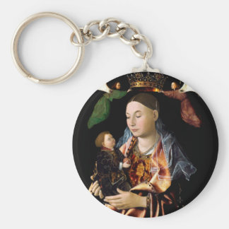 Salta Madonna och Kristusbarnet Rund Nyckelring