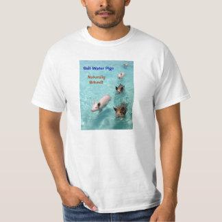Salta vattenGrisar naturligt Brined! Tee Shirts