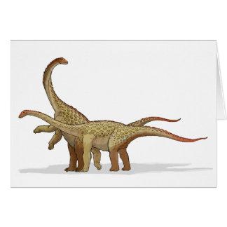 Saltasaurus - Cretaceous Dinosaur Hälsningskort