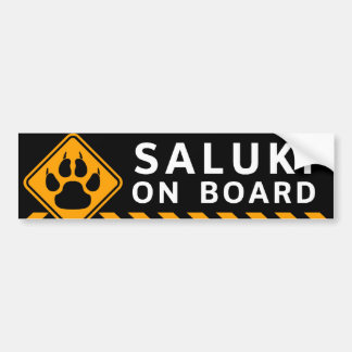 Saluki ombord bildekal