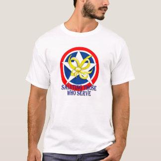 Salutera de som tjänar som t-shirts