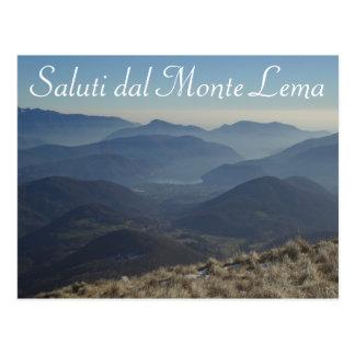 """Saluti dal Monte Lema"" - schweizisk vykort"