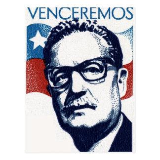 Salvador Allende - Venceremos Vykort