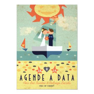 Salvar Veleiro Wedding Vintage Agende a Data 12,7 X 17,8 Cm Inbjudningskort