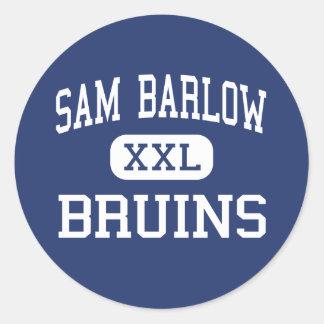 Sam Barlow - nallar - högstadium - Gresham Oregon Runt Klistermärke