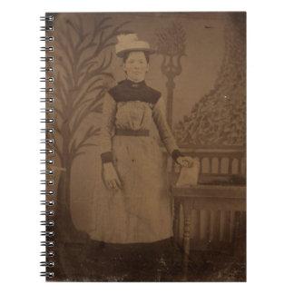 Samantha antik Tintype anteckningsbok