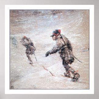 Samar i en Snowstorm Poster