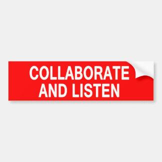 Samarbeta och lyssna bildekal