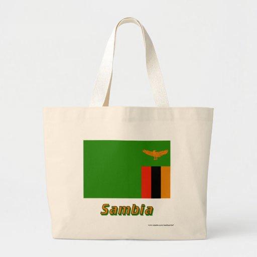 Sambia Flagge mit Namen Tygkasse