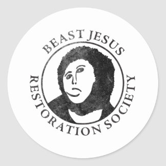 Samhälle för beastJesus återställande Runt Klistermärke