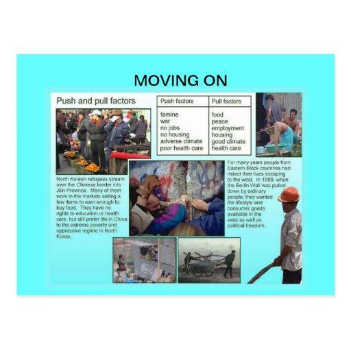 Samhällskunskap som är röra på, Emigration, invand Vykort
