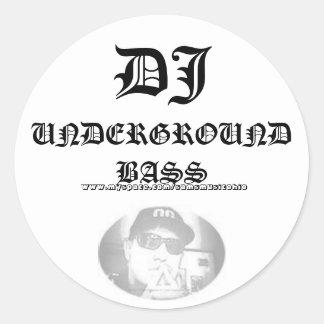 SamixMusic DJ, UNDERJORDISK BAS,    www.myspace… Runt Klistermärke