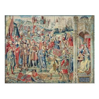 Samla bootyn, tapestryen av David och Bathshe Vykort