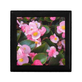 Samla i en klunga av varierande skuggar av rosa Be Smyckeskrin