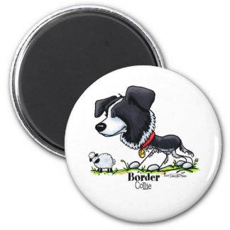 Samlas hunden - gränsColliemagnet Magnet