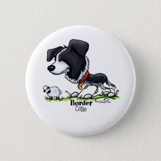 Samlas hunden - gränscollien knäppas standard knapp rund 5.7 cm
