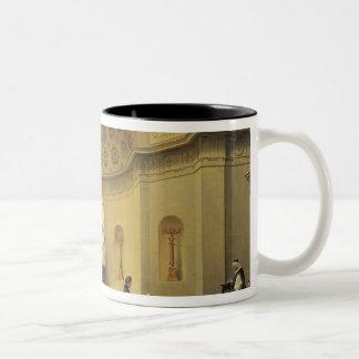 Samlas i det Expiatory kapell, 1830-48 Två-Tonad Mugg
