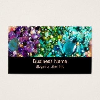 Samling av färgrik pärlor visitkort
