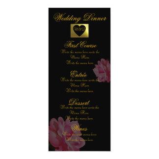 Samling för blomma för meny för bröllop för 10,2 x 23,5 cm inbjudningskort