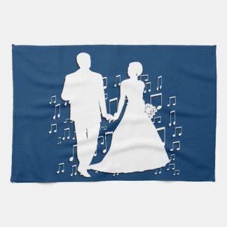 Samling för bröllopsfixarenaffärstema kökshandduk