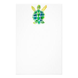 Samling för havssköldpaddakärlek brevpapper