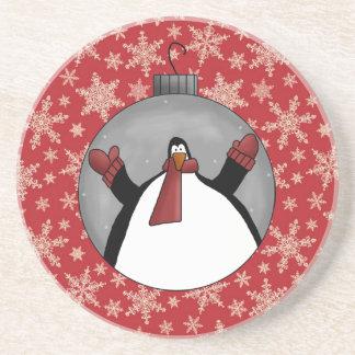 Samling för landnötkreaturkustfartyg (pingvinet) glasunderlägg
