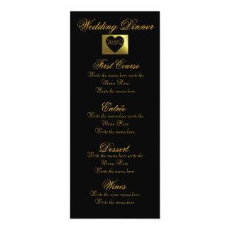 Samling för meny | för bröllopmiddag rosa guld- 10,2 x 23,5 cm inbjudningskort