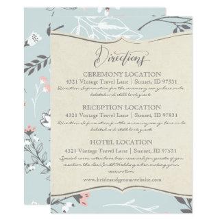 Samling för vintage bröllop för INFORMATIONSKORT | 11,4 X 15,9 Cm Inbjudningskort