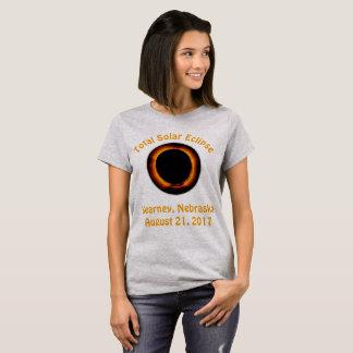 Sammanlagd sol- förmörkelse (Kearney, Nebraska) Tee Shirt