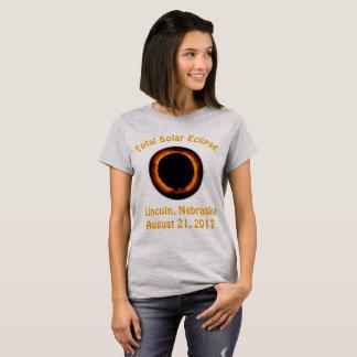Sammanlagd sol- förmörkelse (Lincoln, Nebraska) Tshirts
