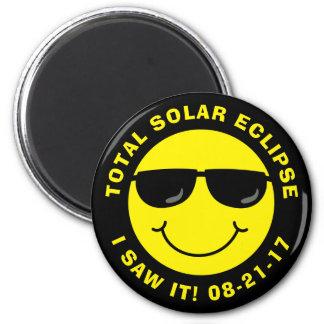 Sammanlagd sol- förmörkelsecoolasmiley face magnet rund 5.7 cm