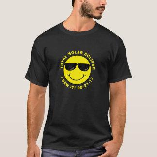 Sammanlagd sol- förmörkelsecoolasmiley face t shirts