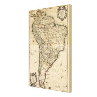 Sammansatt karta av South America Canvastryck