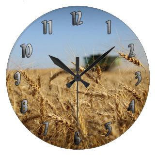 Sammanslutning i vetefält stor klocka
