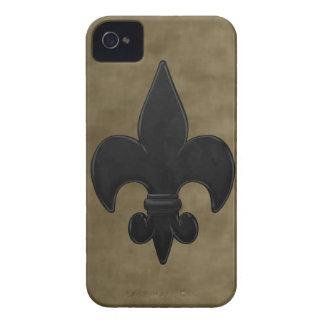 Sammet Saints Fleur De Lis Case-Mate iPhone 4 Skal