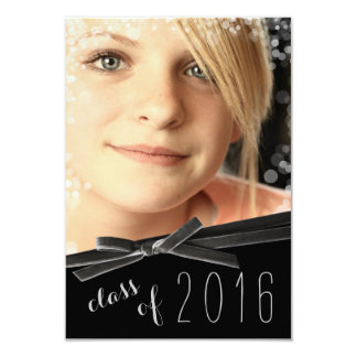 Sammetbandet Bokeh verkställer det inramade fotoet 8,9 X 12,7 Cm Inbjudningskort