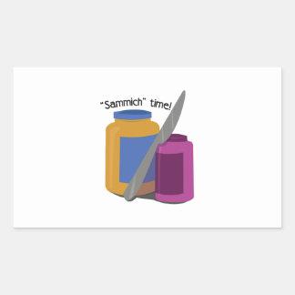 Sammich Time Retangel Klistermärke