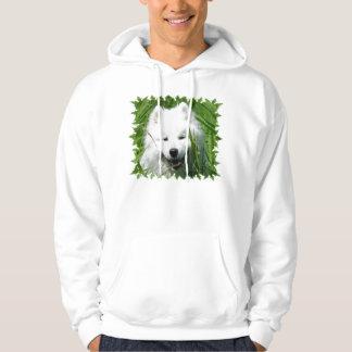 Samoyed i gräs hoodie