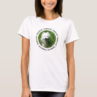 Samoyed i gräs W/Samoyed T-shirts