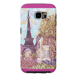Samsung för Paris Eiffel tornpointillism fodral Galaxy S5 Fodral