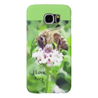 Samsung mobilt fodral - Honeybee på blommar Samsung Galaxy S6 Fodral