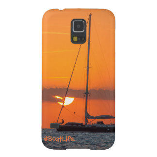 Samsung S5 för fartyglivsolnedgång mobilt fodral Galaxy S5 Fodral