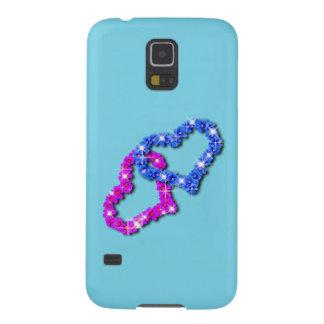 Samsung s5 för kronahjärtakärlek blått galaxy s5 fodral