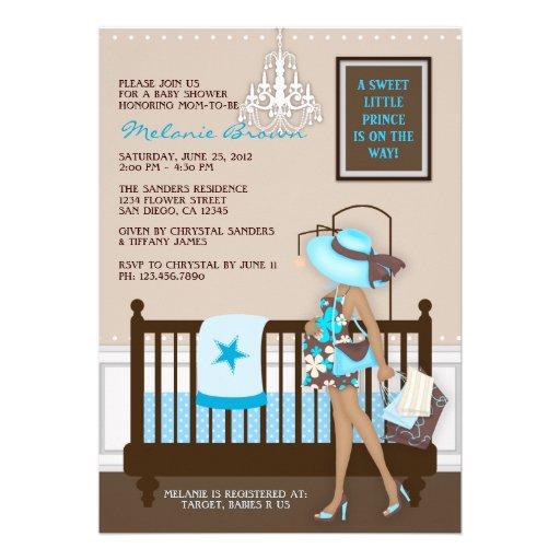 Samtida baby showerinbjudan för chic modern mamma inbjudningar