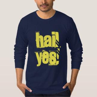 Samtida design för hagel ja tröjor