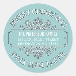 Samtida god juletikett för klassiker runt klistermärke