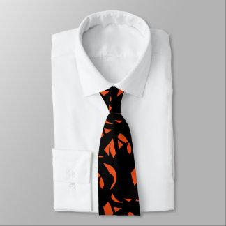 Samtida konstorange/svart slips