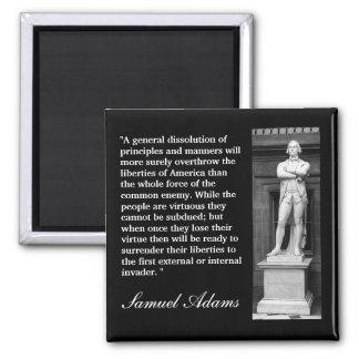 """Samuel Adams citationstecken """"en allmän Magnet"""