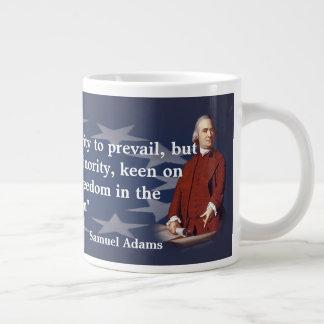 Samuel Adams citationstecken på skogsbränder av Jumbo Mugg