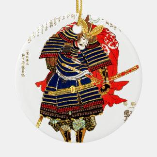 Samurai - Utagawa Kuniyoshi 歌川国芳 Julgransprydnad Keramik